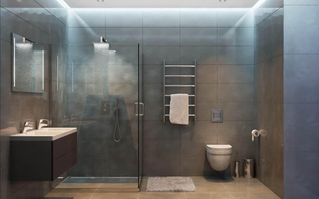 Binnenwandbekleding van een badkamer