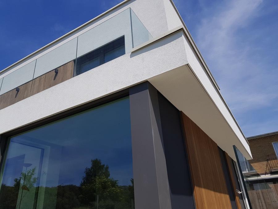 Aussenfassade mit Fassadenputz